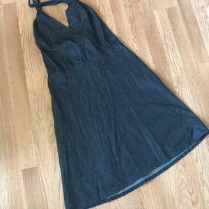 DKNY Denim Halter Dress